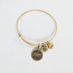 "Alex and Ani Gold ""Hope"" Charm Bracelet"